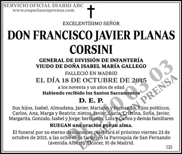 Francisco Javier Planas Corsini